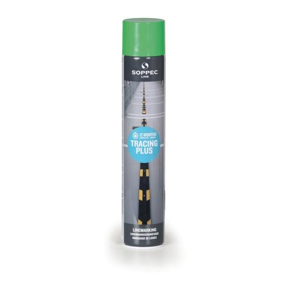 Farba w sprayu TRACING PLUS do malowania linii i pasów, 750 ml, zielona