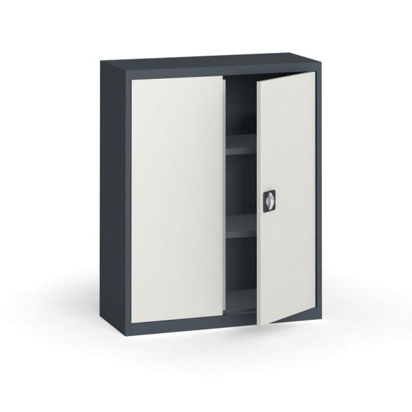 Szafa metalowa, 1150 x 950 x 400 mm, 2 półki, antracyt/szara