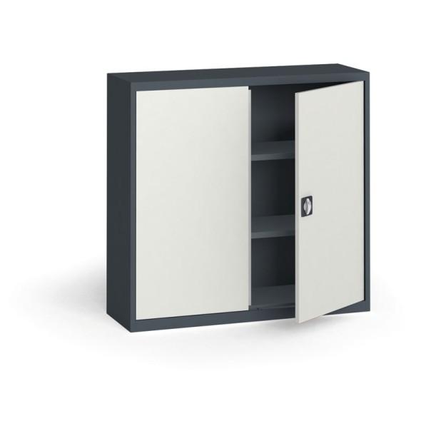 Szafa metalowa, 1150 x 1200 x 400 mm, 2 półki, antracyt/szara
