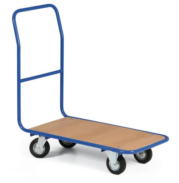 Wózek platformowy LIGHT, 780x450 mm, pełne czarne koła, nośność 300 kg