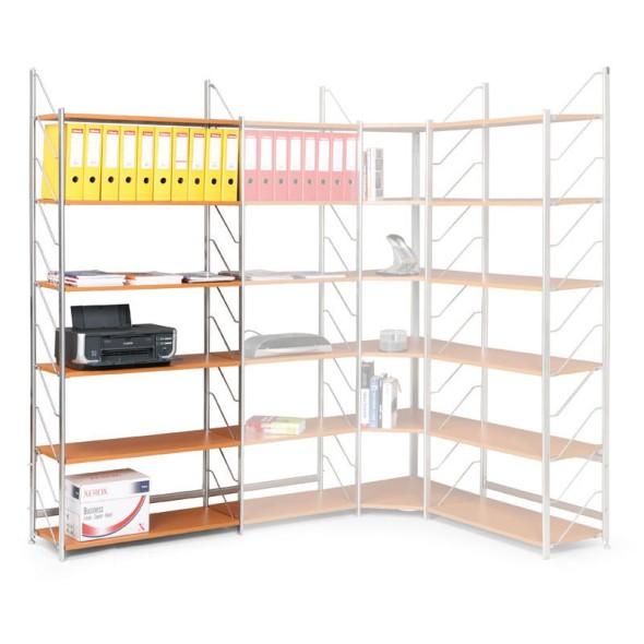 Regał biurowy, podstawowy, 2030 x 800 x 365 mm, buk