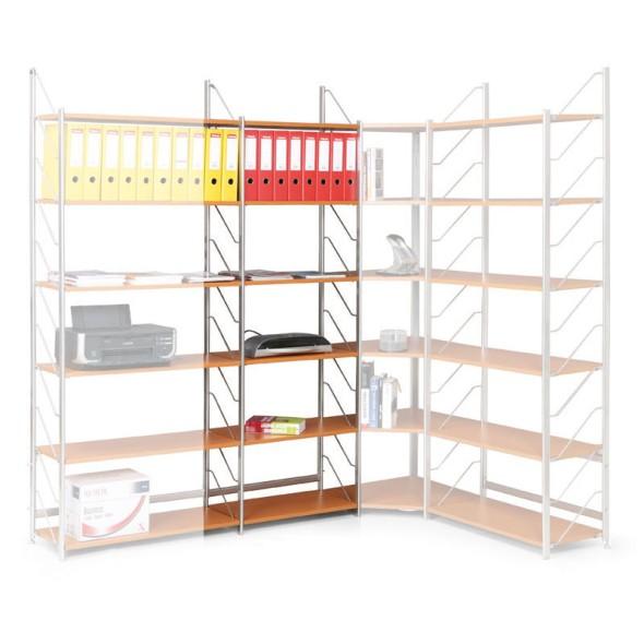 Regał biurowy, podstawowy, 2030 x 600 x 365 mm, buk