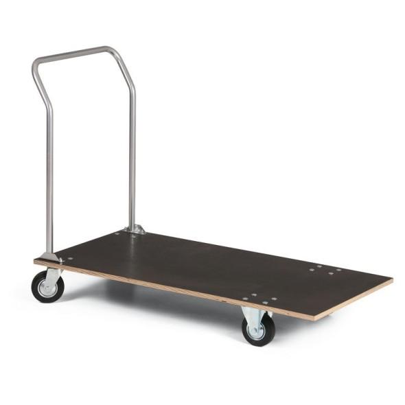 Wózek platformowy z wodoodpornej sklejki, 1200x600 mm, nośność 150 kg