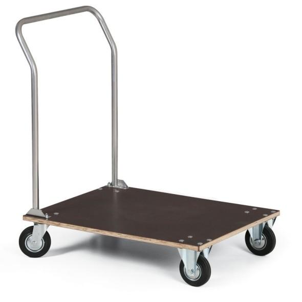 Wózek platformowy z wodoodpornej sklejki, 800x600 mm, nośność 100 kg