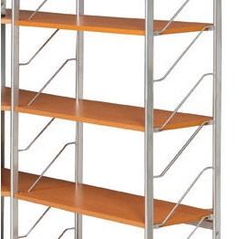 Dodatkowe półki do regału modułowego, 800 x 350 mm, czereśnia