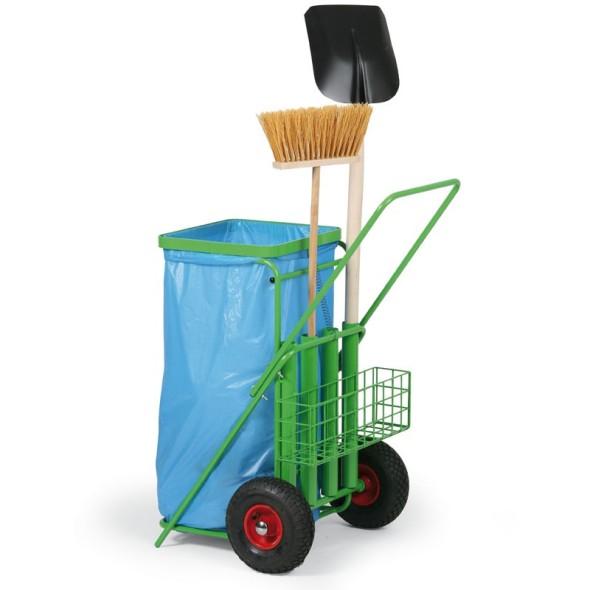Wózek do sprzątania terenów zewnętrznych na worki 120L