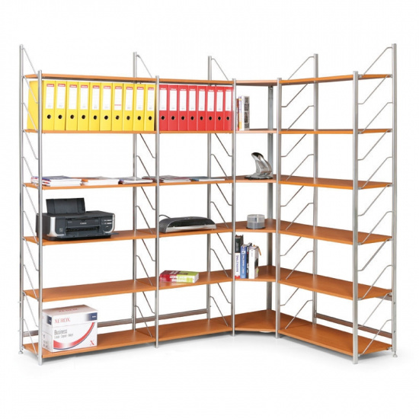Regał biurowy, dodatkowy, 2030 x 800 x 365 mm, buk