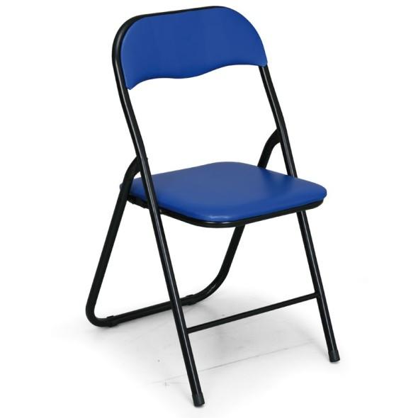 Składane krzesła konferencyjne BRIEFING 4+2 GRATIS, niebieske