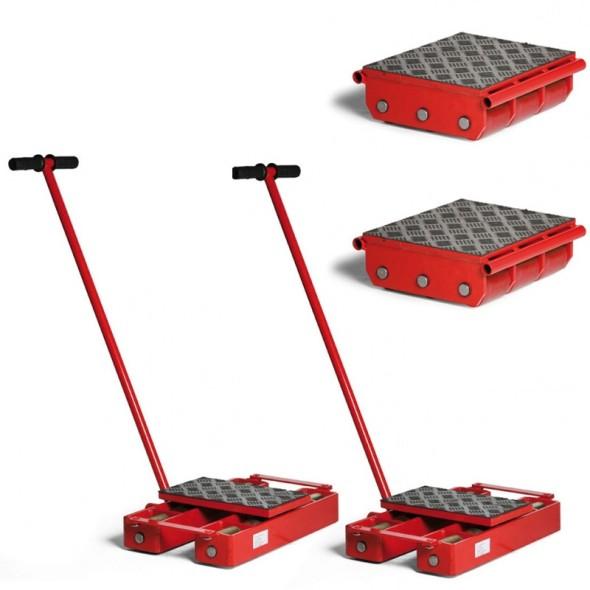 Platformy transportowe - zestaw; maksymalne obciążenie 15900 kg