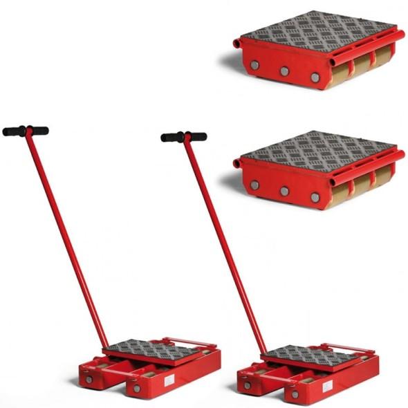 Platformy transportowe - zestaw; maksymalne obciążenie 25500 kg