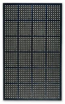 Mata gumowa, odporna, 0,9 x 1,5 m, czarna