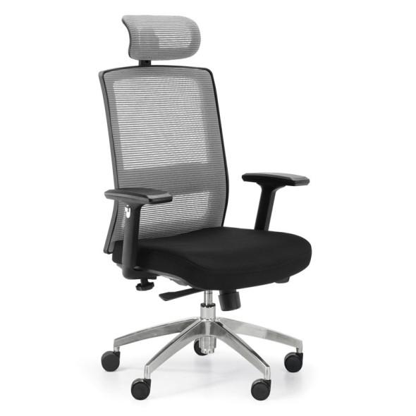 Krzesło biurowe Alta MF, szare