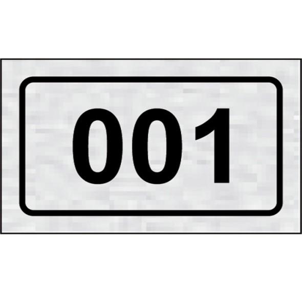 Tabliczka na drzwi -Numer na drzwi