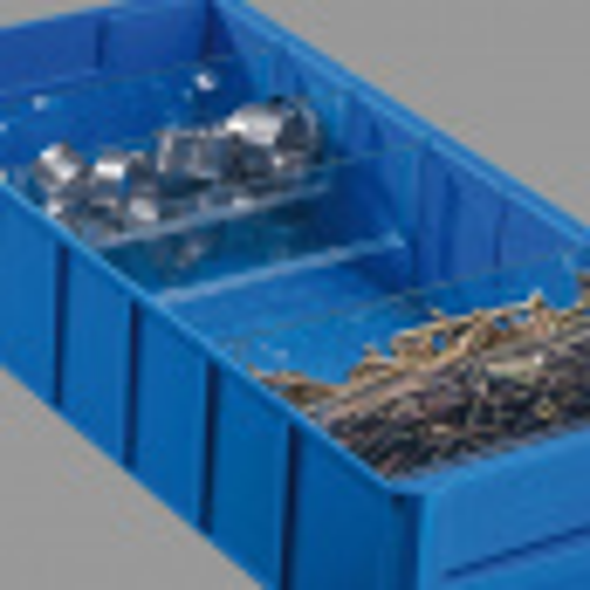 Kunststoffregalbox ShelfBox, 91 x 300 x 81 mm, blau