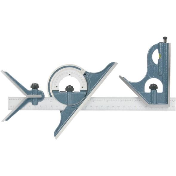 Kombinierte Lehre mit Winkel und Winkelmesser