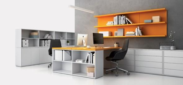 Tischarbeitsplatte BLOCK, orange