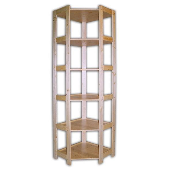 Holz-Eckregal, 6 Regalböden, 2040 x 600 x 435 mm