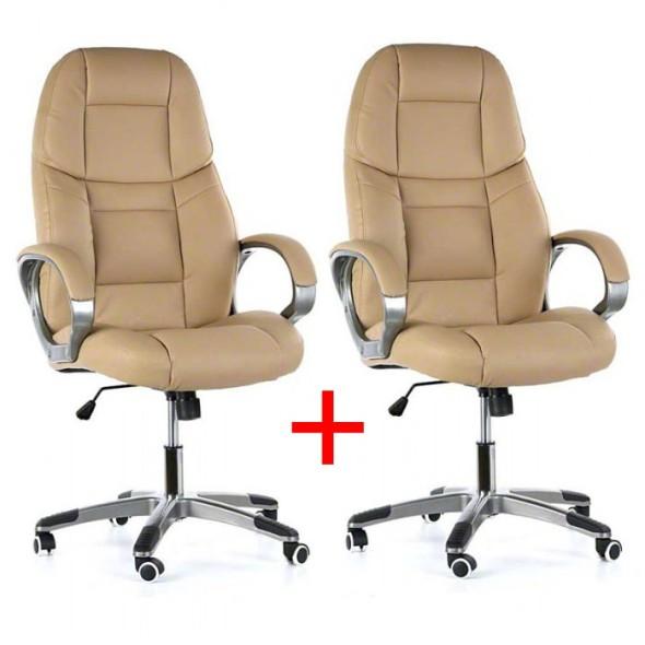 Bürosessel KEVIN 1+1 GRATIS, beige