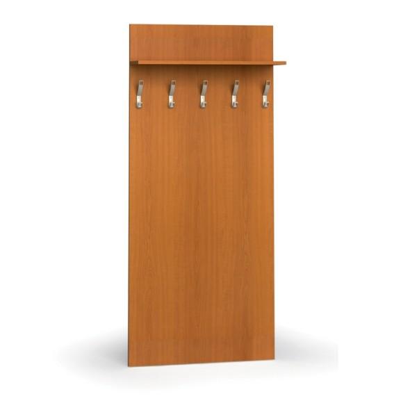 Garderobenwand, 5 Kleiderhaken, Ablage, Kirschbaum