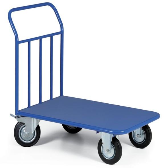 Plattenwagen mit Blechladefläche, 970x660 mm, 400 kg