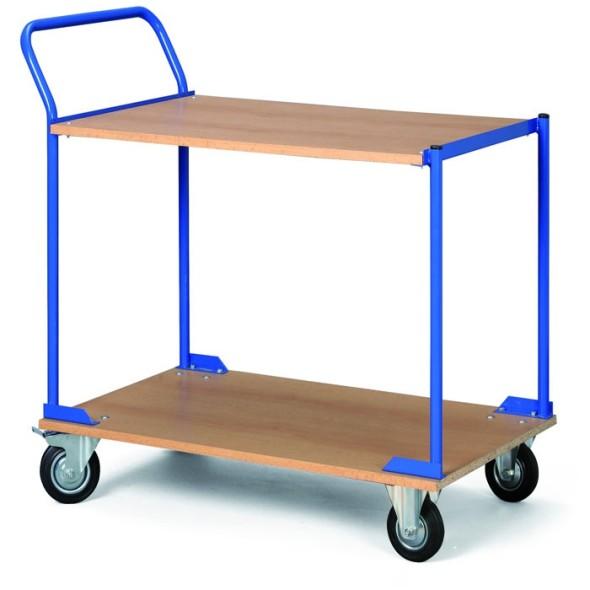 Regalwagen, 2 Holzspanregale, Tragfähigkeit 100 kg