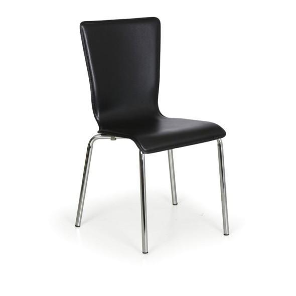 Esszimmerstühle Caprio, schwarz, 3+1 GRATIS