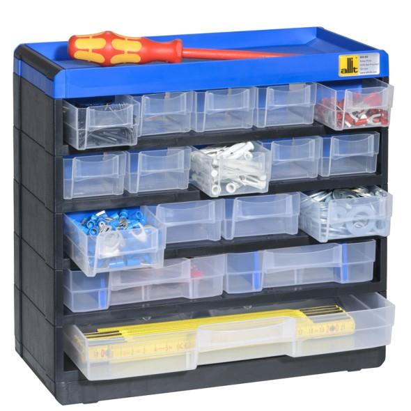 Kunststoffschrank mit Behältern  Pro 53/100, 17 Schubladen