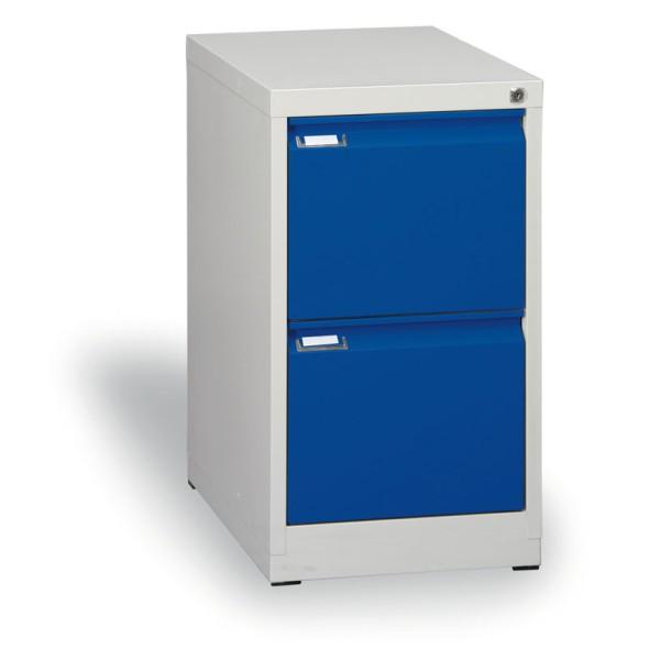 Metall-Hängeregisterschrank ECO A4, 2 Schüben, blau