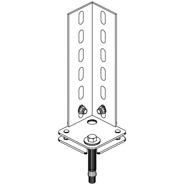 Bodenanker für FIX- und CLIP-Regale