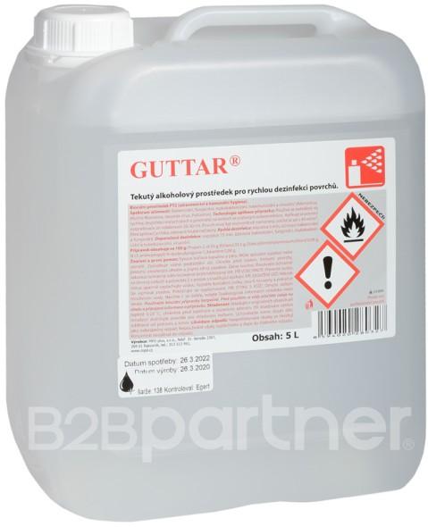 GUTTAR - Alkoholisches Desinfektionsmittel zum Besprühen von Flächen, 5 l