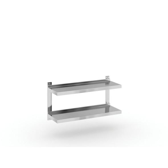 Edelstahl Doppelwandregal, 900x300 mm