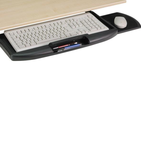 Ausziehbarer Tastaturhalter, schwarz