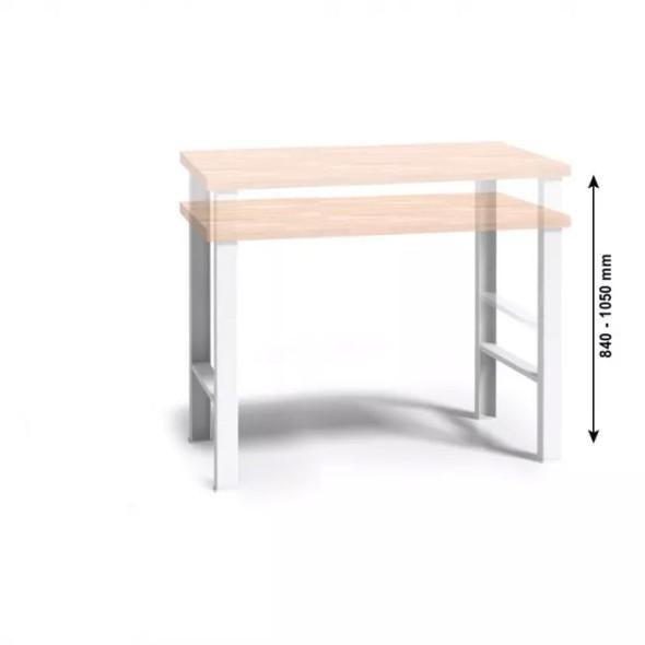 Werkbank WL mit Holzarbeitsplatte, höhenverstellbar, 1500 mm