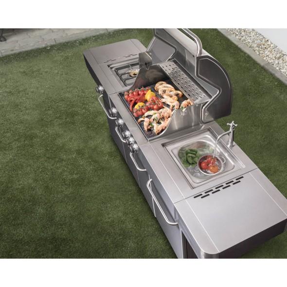 Gasgrill G21 Arizona, BBQ PremLine, 6 Brenner – Druckminderer GRATIS