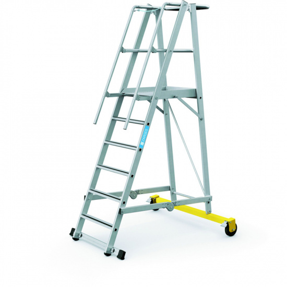 Klappbare Aluminium-Plattformleiter - 6 Stufen, 1,6 m