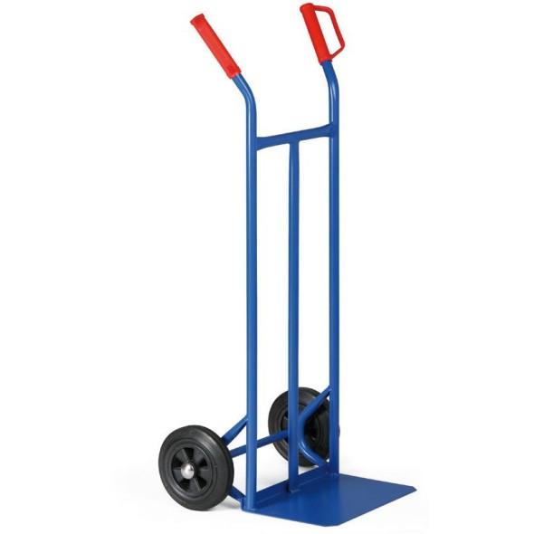 Stahlrohr-Stapelkarre, Tragfähigkeit 200 kg, Vollgummiräder