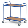 Regalwagen mit 2 Regalen 750 x 420 mm, blau