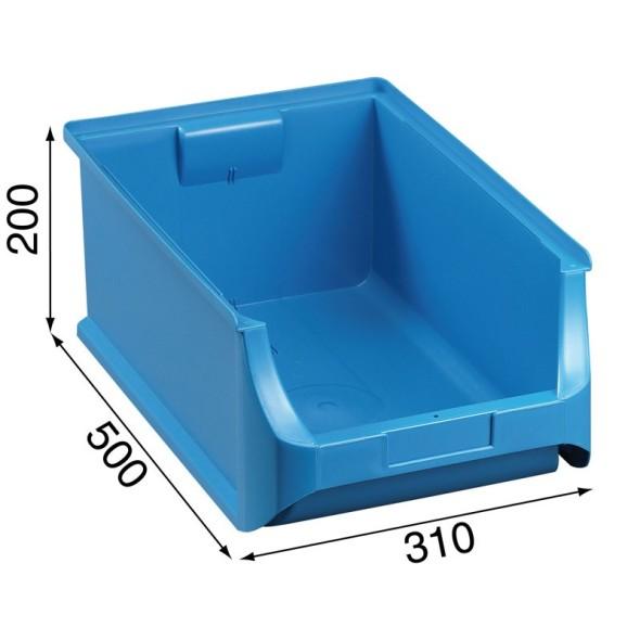 Kunststoffboxen PLUS 5, 310 x 500 x 200 mm, blau, 6 Stk.