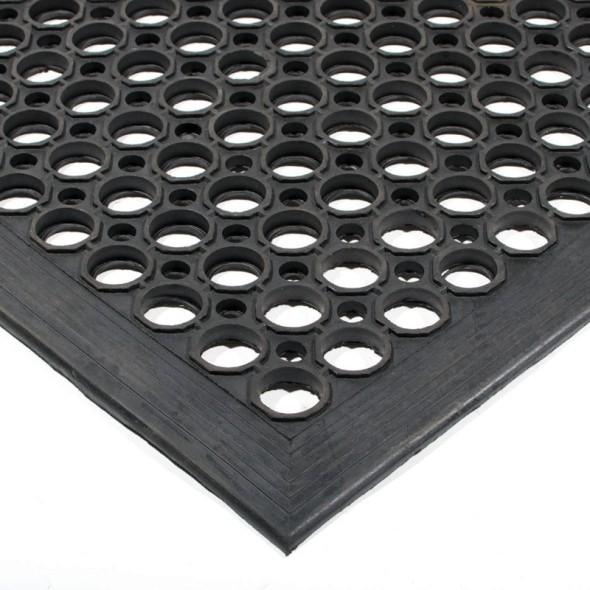 Widerstandsfähige Gummimatte, 0,9 x 1,5 m, schwarz