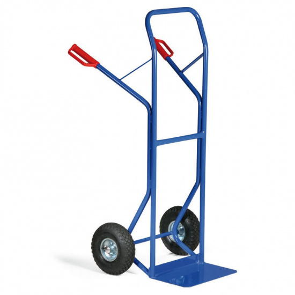 Stahlrohr-Stapelkarre, Tragfähigkeit 250 kg, Lufträder