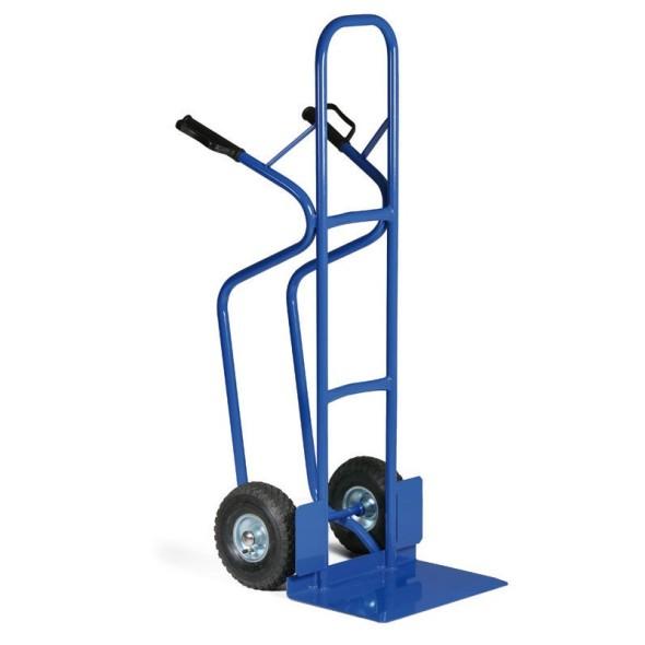 Stahlrohr-Stapelkarre mit breiter Schaufel, Tragfähigkeit 250 kg, Lufträder
