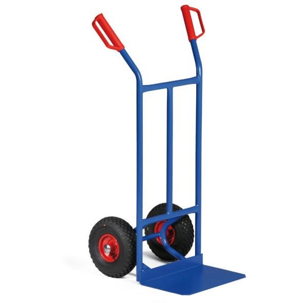 Stahlrohr-Stapelkarre, Tragfähigkeit 200 kg, Lufträder