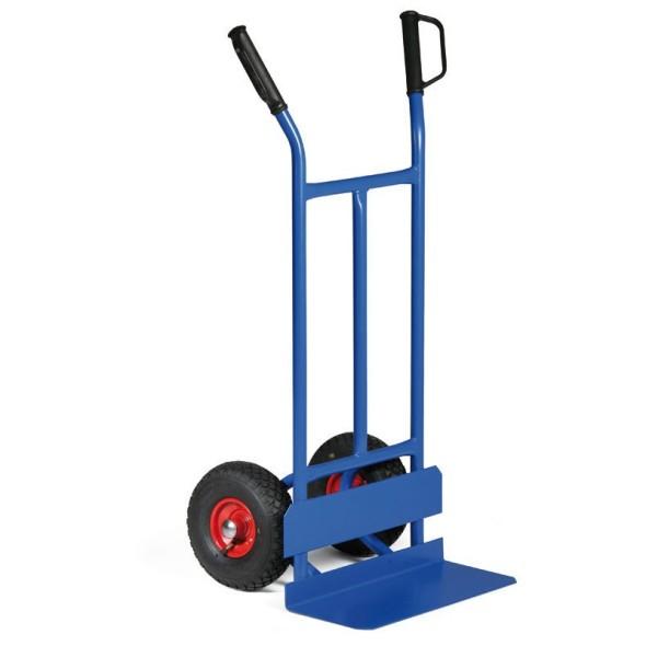 Stahlhandwagen mit Reifenschutz, Tragfähigkeit 200 kg, Vollgummiräder
