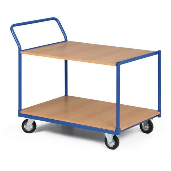 Regalwagen, 2 Holzspanregale, Tragfähigkeit 300 kg