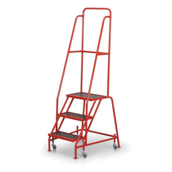 Fahrbare Leiter mit Plattform, 0,67 m, 3 Stufen