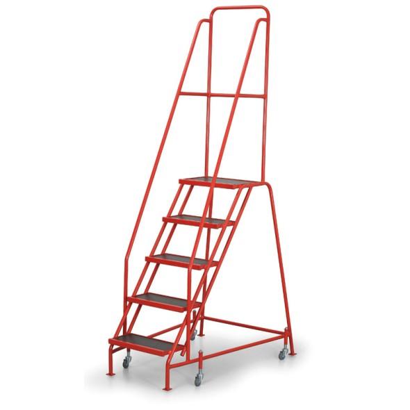 Fahrbare Leiter mit Plattform 1,12 m, 5 Stufen