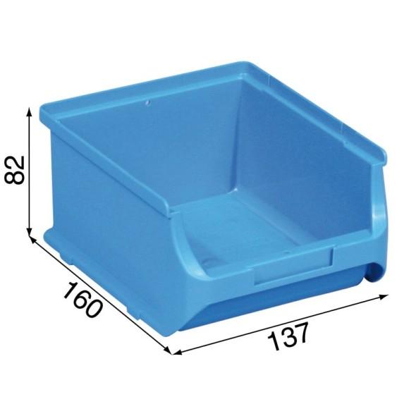 Kunststoffboxen für Kleinmaterial - 137 x 160 x 82 mm, blau