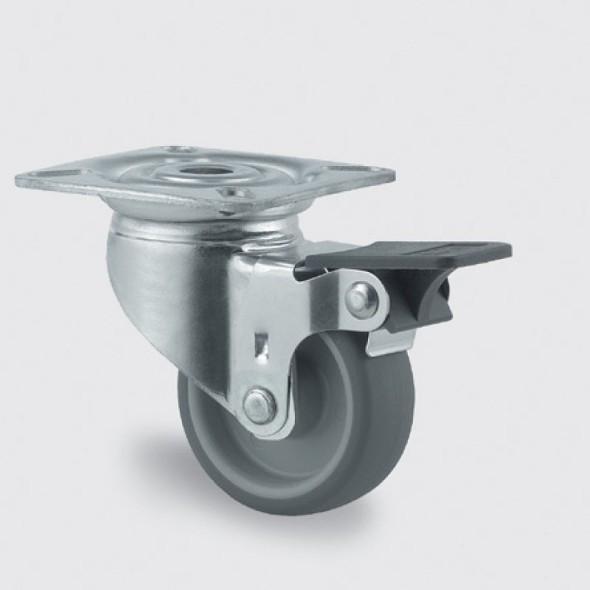 Armaturenrad, grau, 50 mm, drehbar mit Bremse