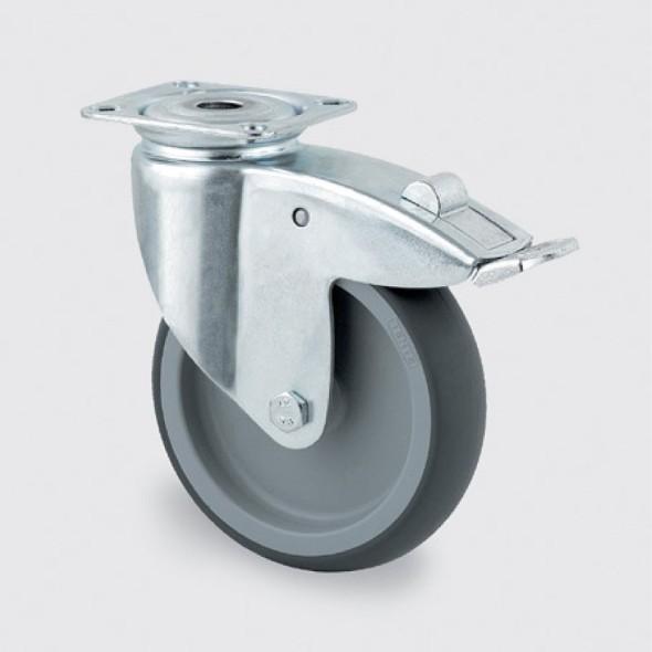 Armaturenrad, grau, 100 mm, drehbar mit Bremse