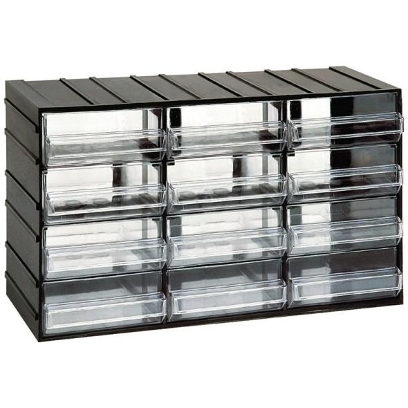 Modulschrank mit Schubladen, 382 x 148 x 230 mm, 12 Schubladen